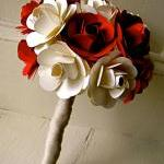 Red and White Paper Rose Fl..