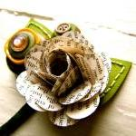 Boutonniere Book Page Rose Flower B..