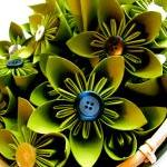Green Paper Flowers - weddi..