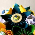 Paper Flower Bouquet, 3 Bri..